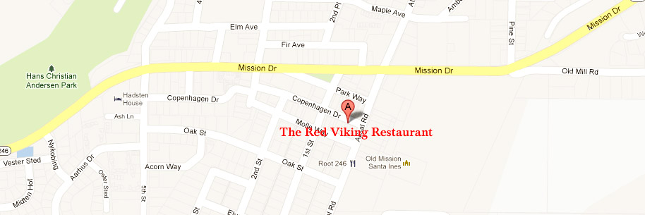 The Red Viking Restaurant Solvang Ca Map on whitethorn ca map, united states ca map, santa ynez ca map, san luis obispo map, with all cities ca map, arroyo grande ca map, salinas ca map, saticoy ca map, la conchita ca map, solano beach ca map, sawyers bar ca map, tyler ca map, la purisima mission ca map, industry hills ca map, concord ca map, hollywood ca map, chumash casino ca map, wawona ca map, n. ca map, mount lassen ca map,